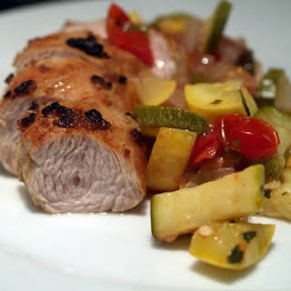 Zesty Turkey Tenderloin With Vegetables.