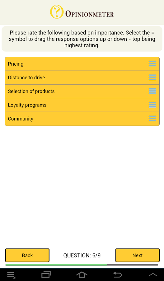 TouchPoint Surveys- screenshot