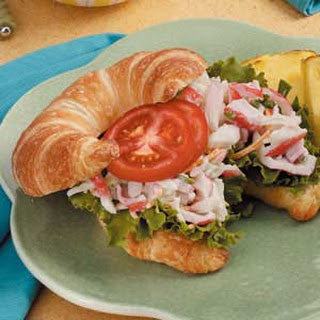 Crab Salad on Croissants