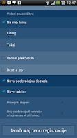 Screenshot of Registracija Vozila Kalkulator