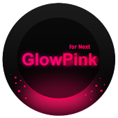 Next Launcher Theme GlowPink