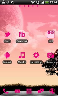 Hot Pink GO Launcher EX Theme - screenshot thumbnail