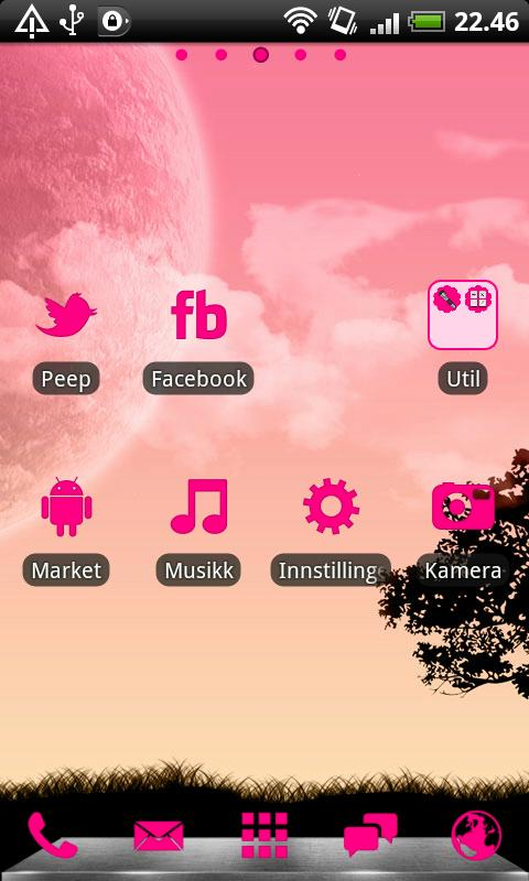 Hot Pink GO Launcher EX Theme- screenshot