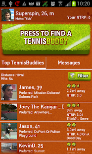 Tennis Buddy app Find partners - screenshot thumbnail