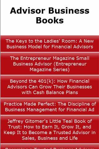 Advisor Business Books