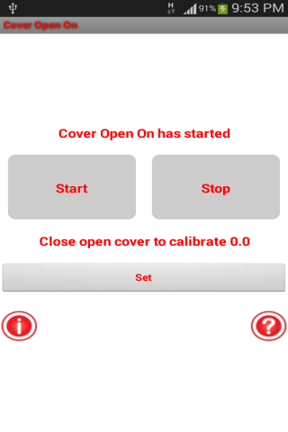 Cover Open On