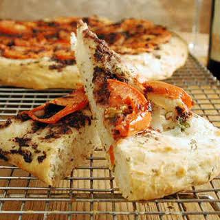 Tomato and Eggplant Focaccia.