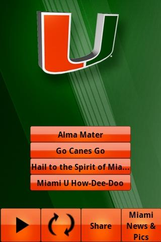 Miami Hurricanes Gameday- screenshot