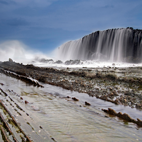 Beauty of water fall by Marcelino Moningka - Landscapes Waterscapes