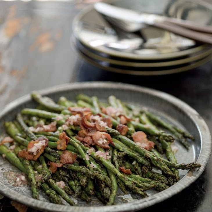Grilled Asparagus with Bacon Vinaigrette Recipe
