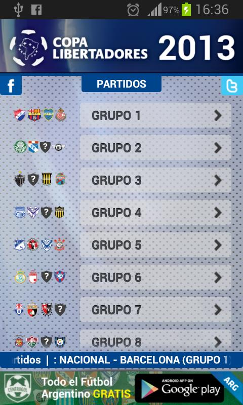 Copa Libertadores 2013 - screenshot