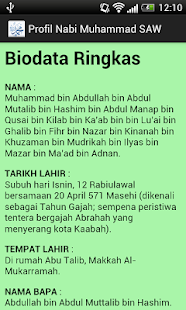 Profil Nabi Muhammad SAW- screenshot thumbnail