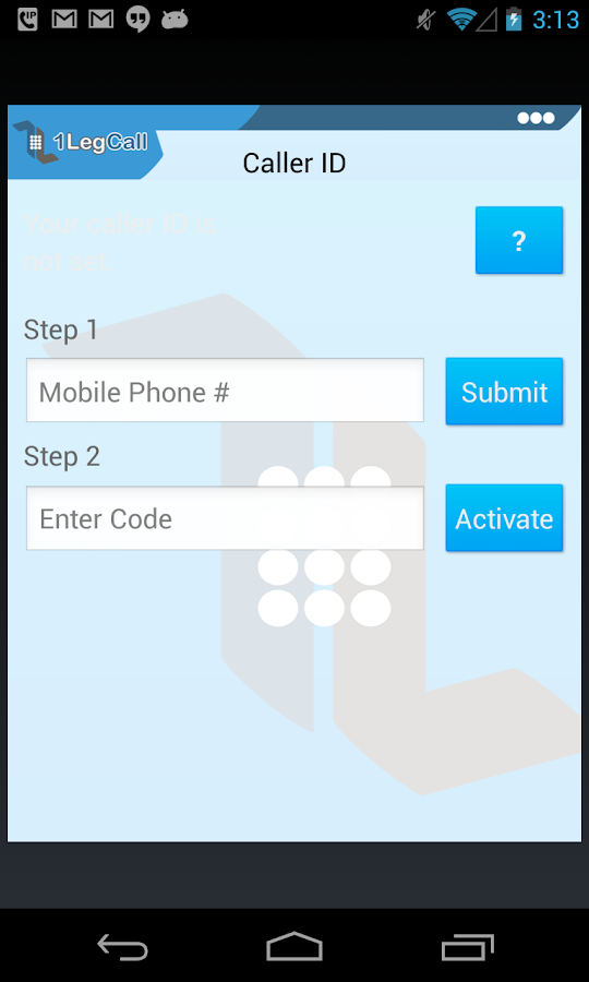 1LegCall - VoIP Dialer- screenshot