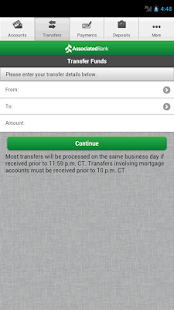 Associated Mobile Banking - screenshot thumbnail