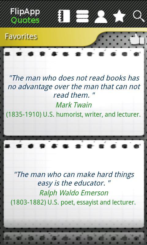 FlipApp Famous Quotes English- screenshot