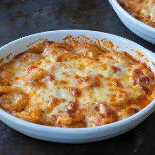 Cheesy Baked Tortellini & Homemade Marinara Sauce
