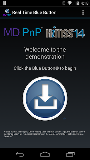 Real Time Blue Button