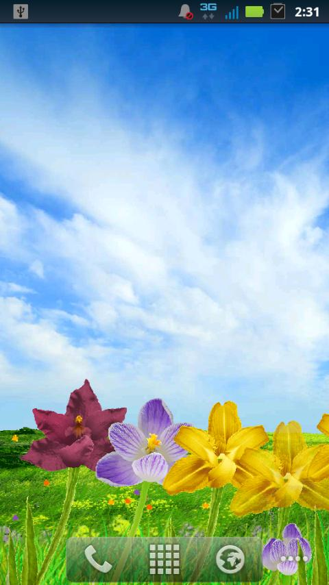 Blooming Flowers LWP! - screenshot