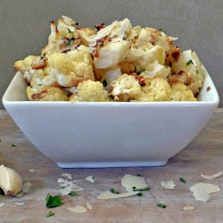 Roasted Parmesan Garlic Cauliflower.
