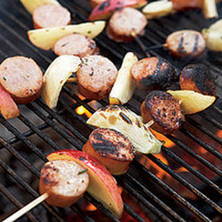 Sausage, Fennel and Apple Skewers.
