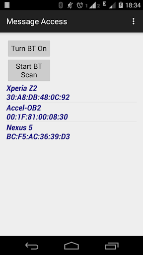 Bluetooth SMS viewer