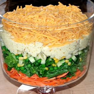 Spicy English Seven-Layer Salad.