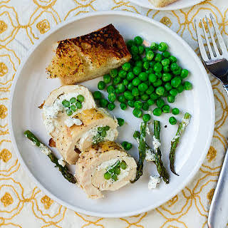 Asparagus and Goat Cheese-Stuffed Chicken.