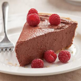 Chocolate Raspberry Tofu Pie