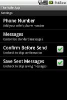 Screenshot of The Wife App