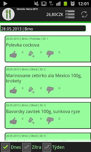 玩免費生活APP|下載Mendelu Menza - Jídelníček app不用錢|硬是要APP