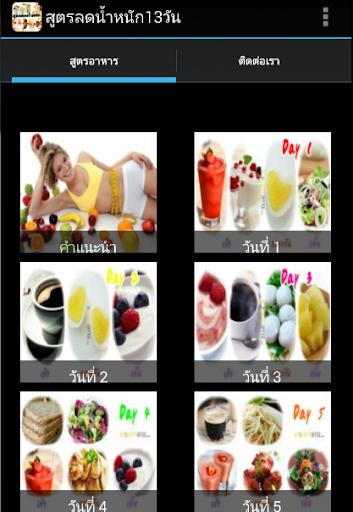 สูตรอาหารลดความอ้วน 13 วัน