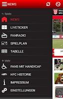 Screenshot of HFC