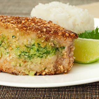 Thai-Style Peanut and Panko-Crusted Pork Chops.