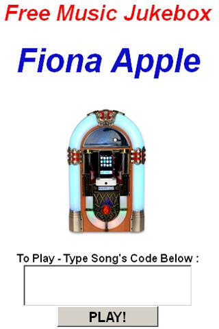 Fiona Apple Jukebox - screenshot