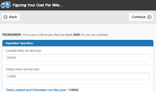 Cost Per Mile- screenshot thumbnail