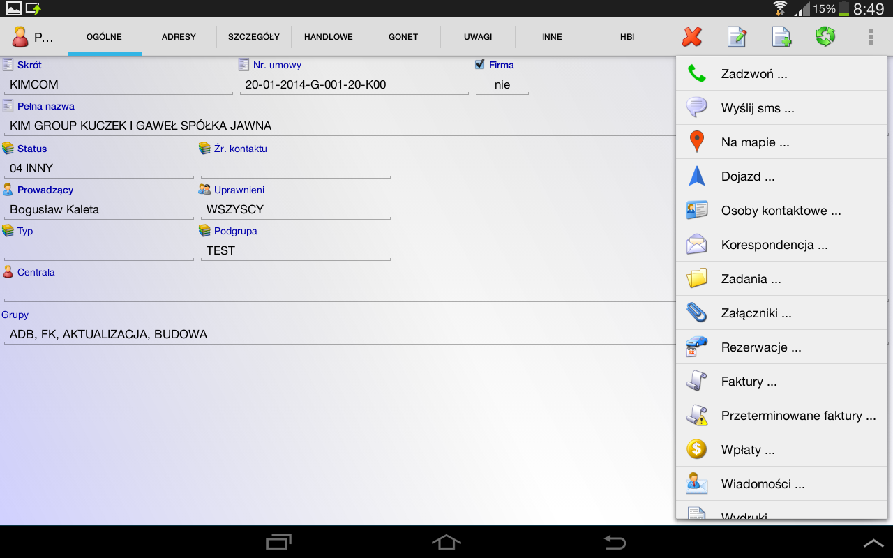 GoNet CRM DEMO- screenshot