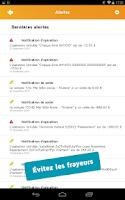 Screenshot of Gérer mes comptes