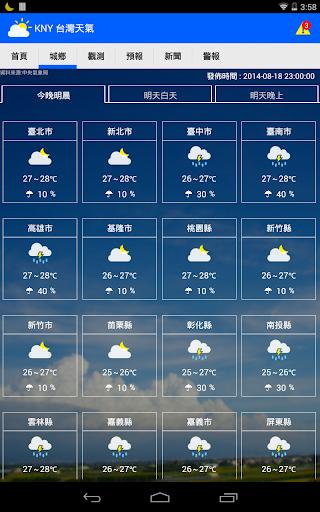 KNY 台灣天氣 Taiwan Weather|玩天氣App免費|玩APPs