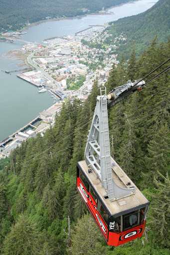 Mt-Roberts-Tram-Juneau-Alaska - The view from the top of the Mt. Roberts Tram near Juneau, Alaska.