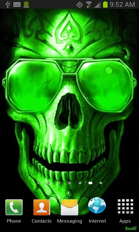 Green fire skull live wallpaper android apps on google play green fire skull live wallpaper screenshot voltagebd Choice Image