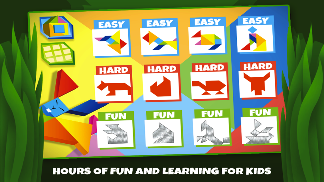 Tangram Puzzles: Wild Animals - screenshot
