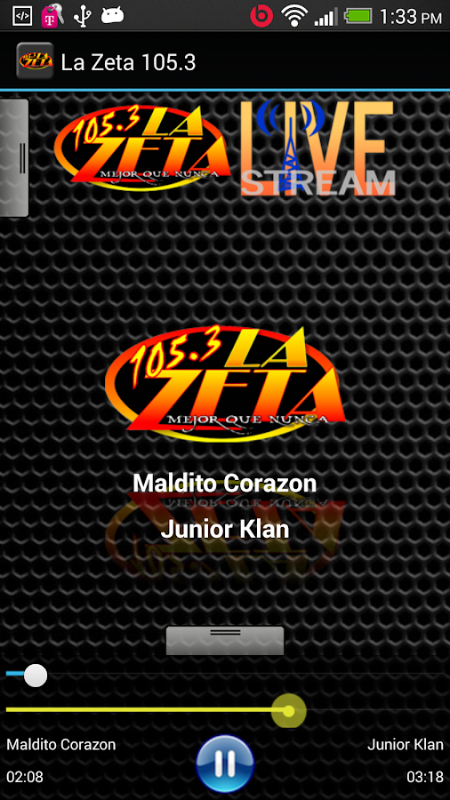 La Zeta 105.3 - screenshot
