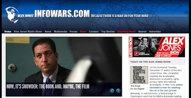 Screenshot of INFOWARS