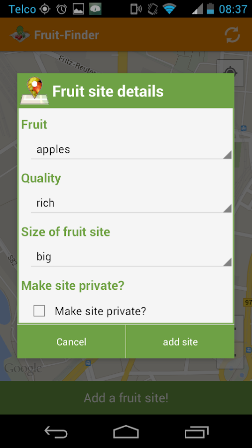 Fruit Finder *free*- screenshot