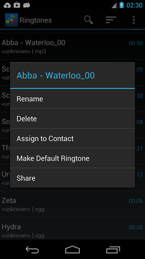 ZeoRing  - Ringtone Editor - screenshot