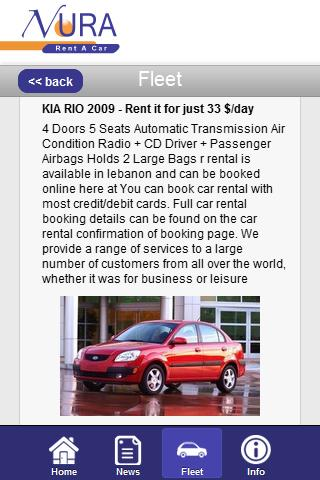 Rent A Car Lebanon - Noura - screenshot