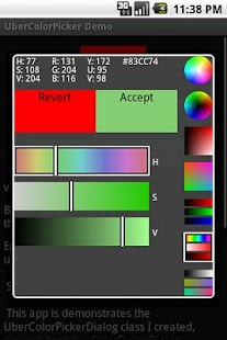 UberColorPicker Demo- screenshot thumbnail