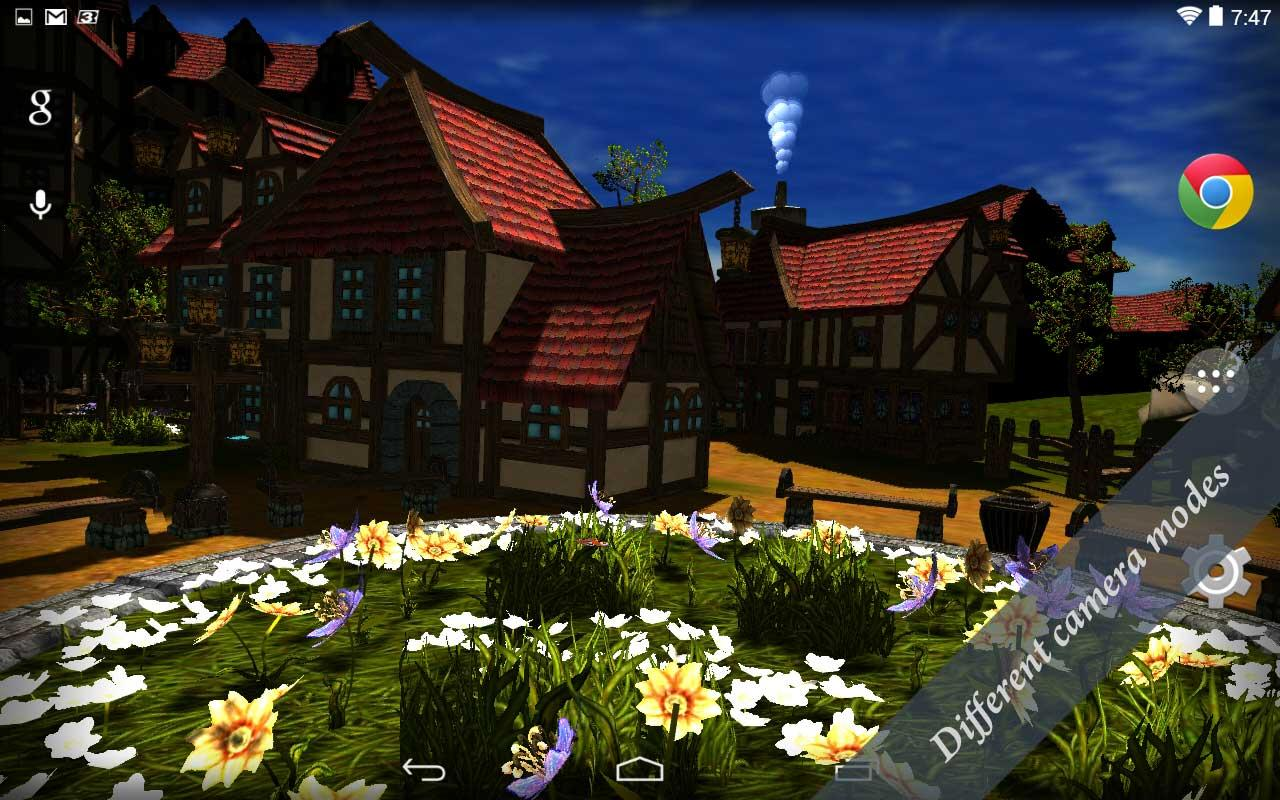 Cartoon village 3d live wallpaper free android apps on for My garden 3d