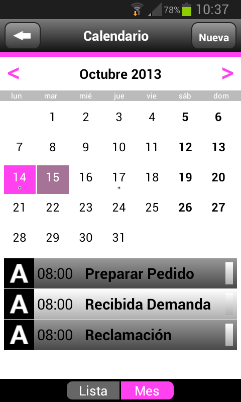 Agenda MNprogram- screenshot