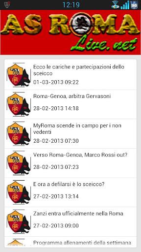 AS Roma News Live